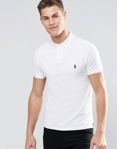 Read more about Polo ralph lauren slim fit polo with logo in white - white