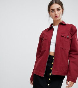 Read more about Kubban tall boxy denim jacket - oxblood