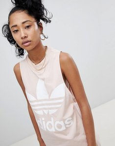 Read more about Adidas originals big trefoil tank top in pink - pink