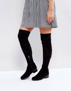Read more about Dune london taiya over the knee boots - black-suede