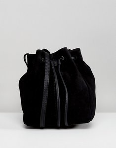 Read more about Asos suede mini minimal duffle bag - black