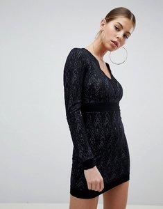 Read more about Ax paris long sleeve lace dress - black