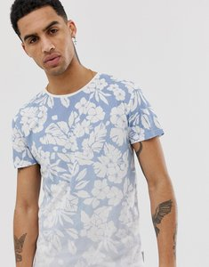 Read more about Bellfield hibiscus fade print t-shirt in light blue