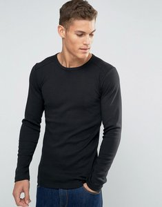 Read more about Esprit long sleeve top in slim fit - black