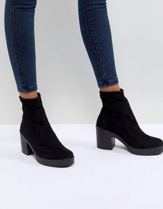 Read more about Asos remi chunky sock boots - black