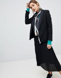 Read more about Stradivarius pleated midi skirt - black