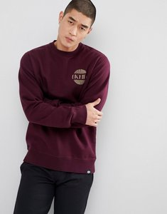 Read more about Dickies winters sweatshirt with back print in maroon - red