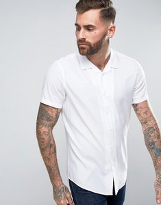 Read more about Asos oversized shirt in white with revere collar - white
