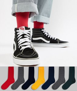 Read more about Asos design socks in grey bright colours 7 pack - multi