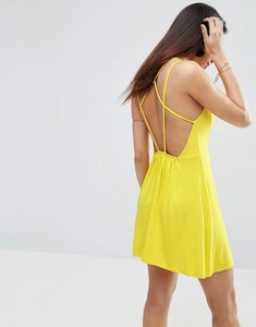 Read more about Asos strappy back a-line sundress - yellow