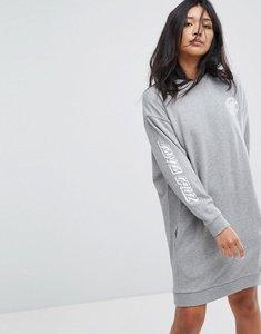 Read more about Santa cruz sweat dress with arm print - grey heather