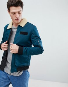 Read more about Native youth flight jacket with borg collar - navy