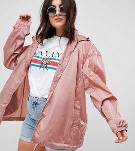 Read more about Asos design curve rainwear jacket with bum bag - pink