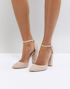 Read more about Aldo nicholes beige ankle strap high heeled pointed shoe - nude