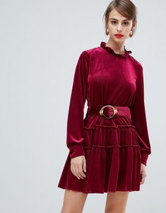 Read more about Vero moda cord high neck dress with tortoise belt - winetasting