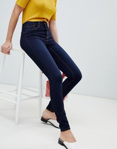 Read more about Pieces shape up mid rise jegging - dark blue denim