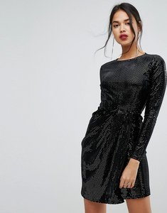 Read more about Prettylittlething glitter dress - black