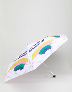Read more about Monki rainbow and cloud umbrella - white