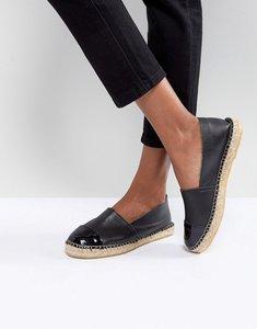 Read more about Pieces leather espadrilles - black