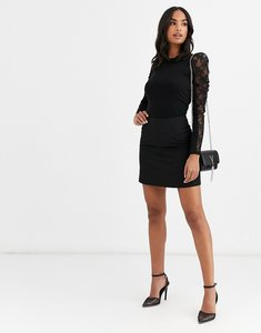 Read more about Asos design tailored a-line mini skirt - black