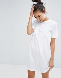 Read more about Asos smock dress with ruffles - white