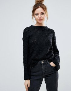 Read more about John jenn auriel textured high neck jumper - 001 caviar