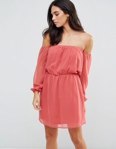 Read more about Glamorous off shoulder dress - dusty pink
