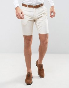 Read more about Farah skinny smart shorts in linen - stone