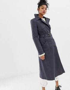 Read more about Asos design longline classic trench coat - slate