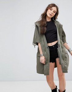 Read more about Free people reworked army jacket - moss