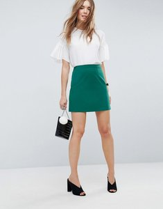 Read more about Asos tailored a-line mini skirt - forest green