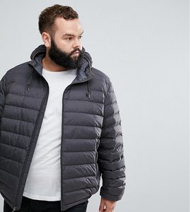 Read more about Polo ralph lauren plus lightweight packable down hooded jacket in grey - windsor heather