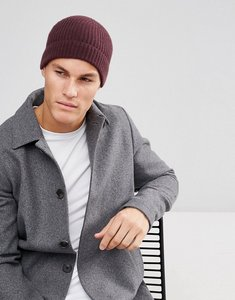 a58ca2bf8e4 Read more about Asos cashmere fisherman beanie in burgundy - burgundy