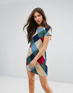 Read more about Traffic people checked swing dress - red green