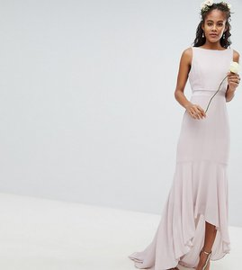 Read more about Tfnc tall maxi bridesmaid dress with high low hem
