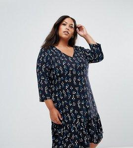 Read more about Junarose printed frill hem shift dress - aop