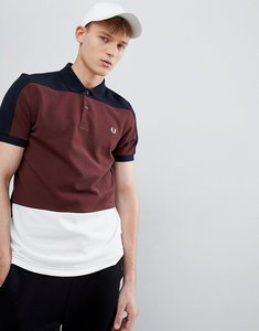 Read more about Fred perry panelled pique polo in navy - 608