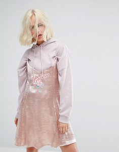 Read more about Lazy oaf rose gold embroidered princess cami dress - gold
