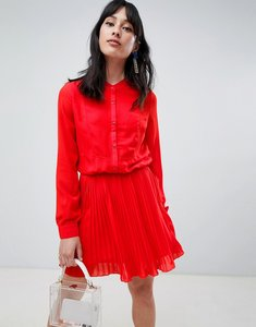 Read more about Unique 21 button pleat skirt dress - red