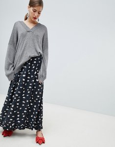 Read more about Custommade printed maxi skirt - 999 anthracite black