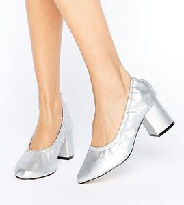Read more about Asos simone wide fit heels - silver