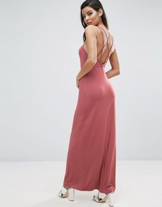 Read more about Asos maxi dress with strappy back detail - soft red