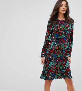 Read more about Y a s tall floral printed smock dress - multi