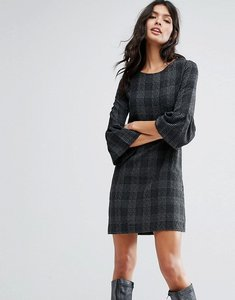 Read more about Mango check flute sleeve dress - multi