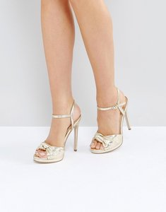 Read more about Office hold tight gold platform sandals - gold