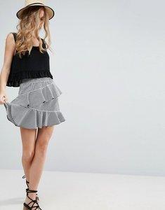Read more about Asos gingham mini skirt - black white