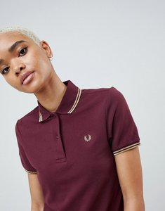 Read more about Fred perry twin tipped polo shirt with metallic trim - mahogany