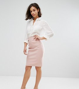 Read more about Asos petite high waisted pencil skirt - blush pink