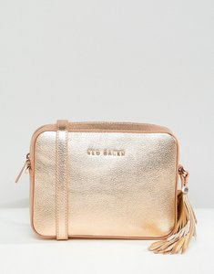 Read more about Ted baker darwina metallic camera bag - rose gold