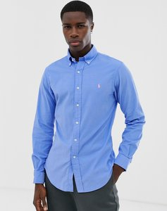 Read more about Polo ralph lauren slim fit cord shirt with button down collar in light blue